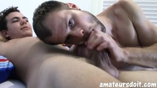 AmateursDoIt - Young amateur twink pounded by stud with big dick