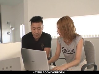 Kanako Kimura tries heavy sex with two men - More at Japanesemamas.com