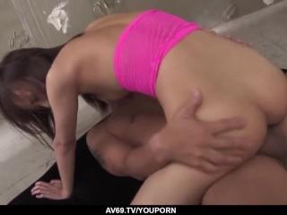 Rin Yuzuki Gets Cock To Demolish Both Her Love Holes - More At 69avscom