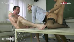 MyDirtyHobby - Threesome with college teacher to relieve exam stress