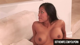 Big Tits Asian Wife Gaia Takes a Fat White Cock with Her Cuckolds Blessing