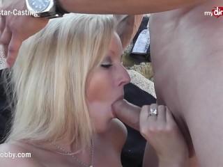 Mydirtyhobby - Hot Blonde Sucks At A Public Beach