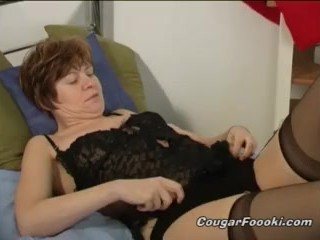 GILF's big toy is her best friend when horny and home alone!