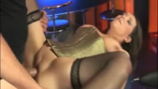 Busty barista gets poudned and drilled by a horny customer