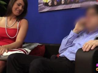 Reacharound/on babe sexy sucks cock
