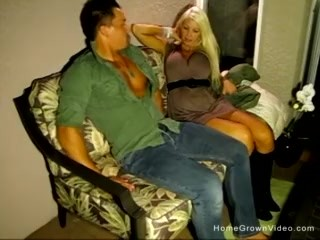 Naughty blonde mature with huge tits getting fucked