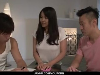 Strong threesome sex scenes with nasty Saki Sudou - More at javhd.net