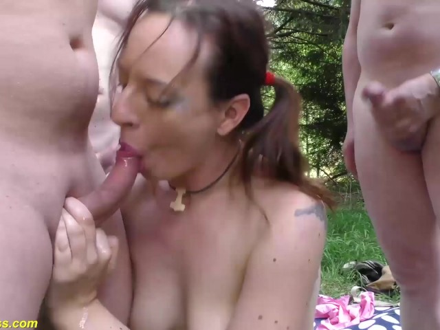 Extreme German Outdoor Anal Swinger Party