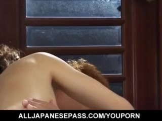 Ami Nishimura ends with cum on mouth after is fucked like hell - More at hotajp.com