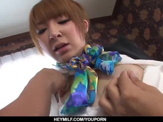 Hikaru Shiina loves the hot inches deep down her cramped pussy - More at Japanesemamas.com