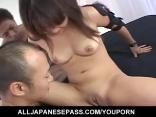 Saki Ogasawara sucks woodies and is fucked in double teaming - More at hotajp.com