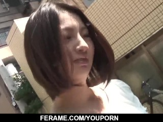 Ran Minami sucks the dick until the last drop of cum - More at Slurpjp com
