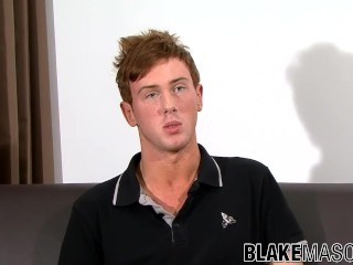 Redhead gay amateur Milo Taylor strokes cock and anal plays