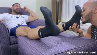 gay free man foot fetish Black