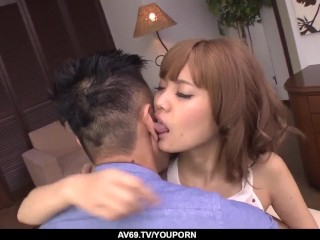 Kana Aono fucked in doggy and jizzed with her legs open - More at 69avs.com