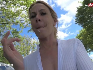 MyDirtyHobby – Amateur German MILF wife fucked outdoors