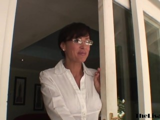 Stunning MILF Lisa Ann riding BBC before cum on tits