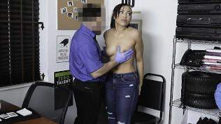 ShopLyfter – Big Ass Ebony Teen Gives Security A Sloppy Wet Blowjob