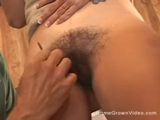 Hairy mature amateur redhead fucking her husband