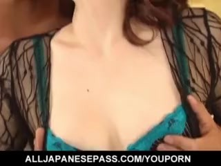 Yui Matsuno in stockings has pussy deeply fucked by licked penis - More at hotajp.com