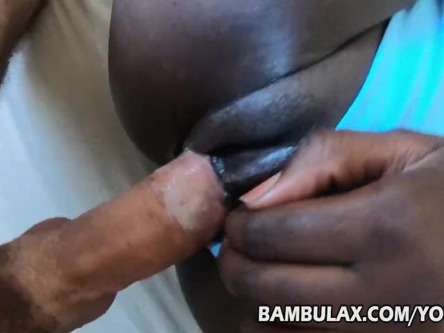 Young Ebony in Panty Creampied