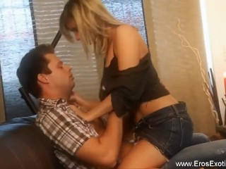 Blonde MILF Is Super Sexy Riding Cock Like A Tramp