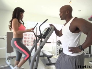 MILF Lisa Ann destroyed by BBC in the gym before facial