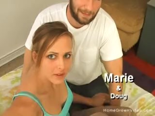 Smoking hot girlfriend gets pounded in homemade video
