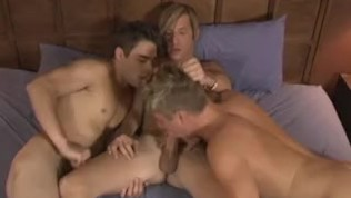 Studs bang each other after jerking off in their backyard