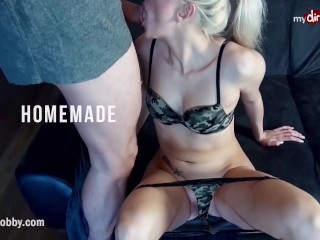 MyDirtyHobby - Hot big ass BBW rides and takes a mouthful of cum