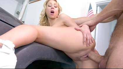 A Top Heavy Girl Gets Her Wet Pussy Penetrated In The