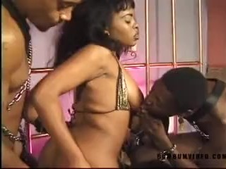 Camille Horny ebony fuck and rude two big black cock