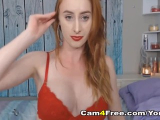Skinny Babe with Perky Tits Plays Her Pussy