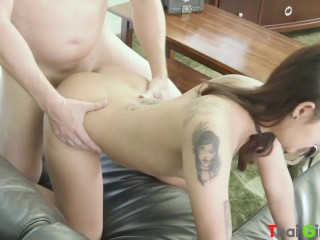 Thai slut Bew is able to be stuffed up with cum