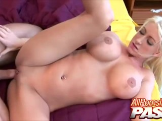 Bouncy Nadia Hilton Gets Jizz On Big Ass Cheeks