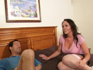 Big tit amateur wife gets gangbanged by five men