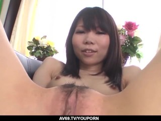 Airi Sasaki likes it in the pussy and the sperm on her face - More at 69avs.com