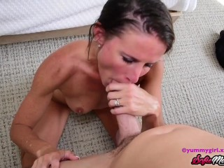 SofieMarieXXX - Gorgeous MILF Sofie Marie Blows Big Cock POV