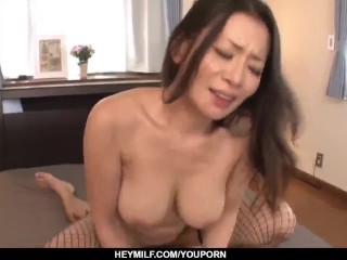Busty MILf tries all possible positions before swallowing – More at Japanesemamas.com