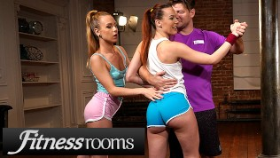 fitness rooms big cock threesome with alecia fox and redhead charlie red