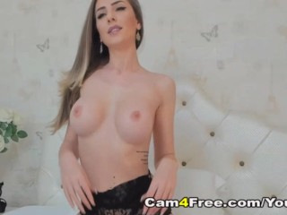 Seductive Babe Fingers Her Wet Pussy