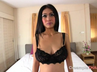 Busty Thai whore begs me to fill her pussy up with cum
