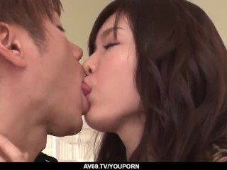 Megumi Shino gages and fucks in a perfect XXX at home - More at 69avs.com