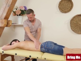 BRINGMEABOY Young Stepson Maksym King Fucked After Massage