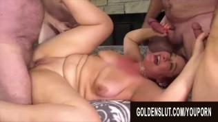 Golden Slut - Mature Cumsluts Getting Gangbanged Compilation Part 3