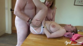 AgedLovE British Matures Playing with Huge Cock