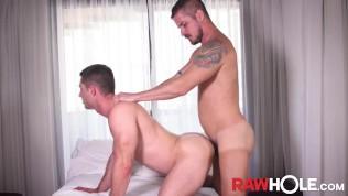 RAWHOLE Tatted Stud Rick Paixao Fucks Bottom After Rimming
