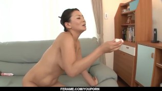 Mommy is faced with dealing two young cocks – More at Slurpjp com