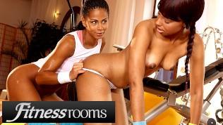 Fitness Rooms Big Ass Big Ebony Lesbians Sade Rose Isabella Chrystin In Gym