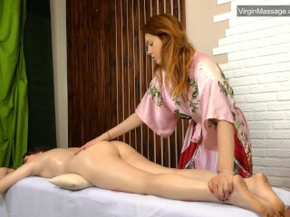 Szilvia a virgin babe from Hungary massaged